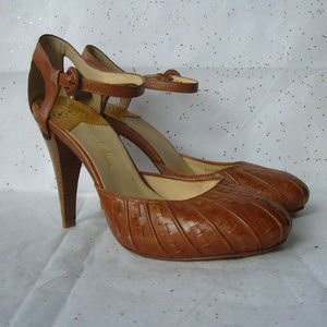Cole Haan Tan Mary Jane Pump - Size 10 - Cut outs!